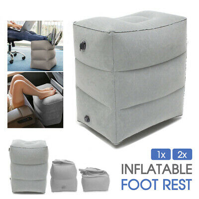 AU13.99 • Buy 1/2x Inflatable Foot Rest Travel Air Pillow Cushion Office Home Leg Footrest AU