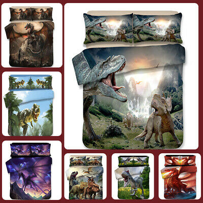 AU71.13 • Buy 3D Jurassic World Print Duvet Cover Bedding Set Pillowcase Quilt/Doona Cover