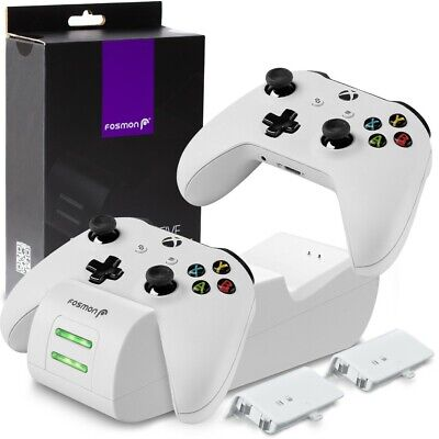 $29.99 • Buy Controller Charge Dock Station Battery Pack + Wall Charger Xbox One S X [WHITE]