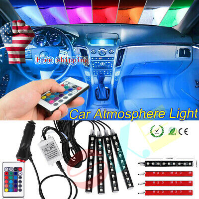 $15.10 • Buy Led Light Strip For Cars Inside Car Lighting Interior Glow Full Color US