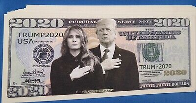 $19.99 • Buy WHOLESALE LOT OF 100 MELANIA AND DONALD TRUMP 2020 NOVELTY MONEY US Mint GOP USA