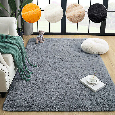 Non Slip Hallway & Kitchen Non Shed Shaggy Runner Rug Living Room Bedroom Carpet • 18.99£