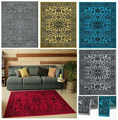 New Floral Large Area Rugs Living Room Bedroom Carpets Kitchen Hallway Runners • 44.95£