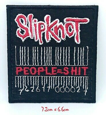 £1.99 • Buy Slipknot (People=Shit) Music Logo Iron On Sew On Embroidered Patch #1306
