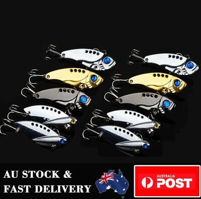 AU14.69 • Buy 10 X Metal Vibe Blade Fishing Lure Switchblade Bream Flathead Spinner Spoon Bait