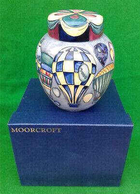 MOORCROFT GINGER JAR & COVER - BALLOONS By JEANNE McDOUGALL - BOXED. • 349.99£