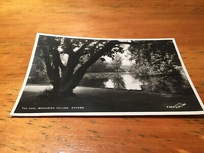 Old Postcard The Lake Worcester College Oxford • 5£