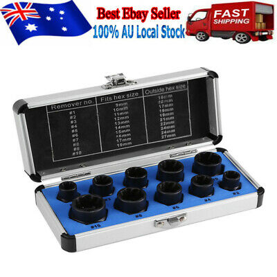 AU26.99 • Buy 10x Damaged Bolt Nut Screw Remover Extractor Set Socket Threading Removal Tool