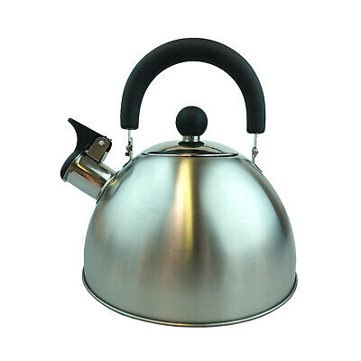 Stove Top Whistling Kettle Fast Boil Water Steel Stovetop Induction 1.8l Teapot • 13.99£