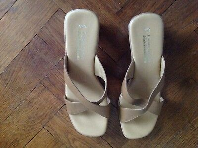 Italian Leather Collection, Sandals, Size 7/40, Tan • 4.99£
