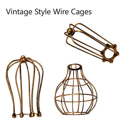 £8.47 • Buy Vintage Bulb Cage Shade  Wire Industrial Light Frame Lamp Guard Bar Cafes UK