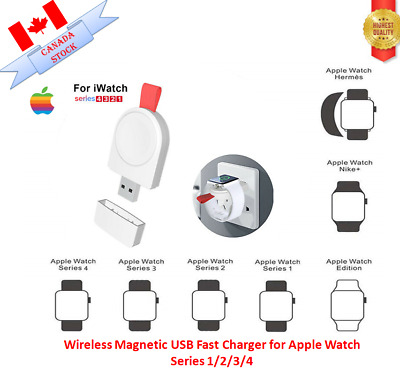 $ CDN11.95 • Buy Wireless Magnetic USB Fast Charger For Apple Watch Series 1/2/3/4