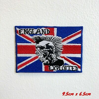 Union Jack England Exploited Skull Iron Sew On Embroidered Patch #1803 • 1.99£