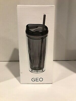 New NIB Geo Shakeology Hot Cold Tumbler PINK Multi-Function Lid 16 Oz Acrylic • 7.50£