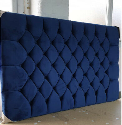 Chesterfield Headboard Tall Wall Mounted Headboard - Plush Soft Velvet  • 119.95£