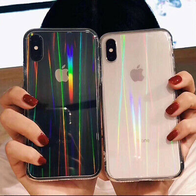 AU6.51 • Buy Luxury Rainbow Glitter Phone Case For IPhone 11 8 7 Plus X XR Laser Clear Cover