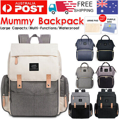 AU30.99 • Buy GENUINE LAND Multifunctional Baby Diaper Backpack Changing Bag Nappy Mummy AU