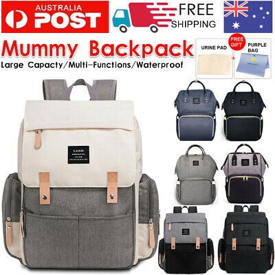 AU35.99 • Buy GENUINE LAND Multifunctional Baby Diaper Backpack Changing Bag Nappy Mummy AU