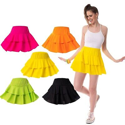 AU12.24 • Buy 80's Neon Ra Ra Skirt Tutu Festivals Clubbing 1980s Womens Fancy Dress Costume