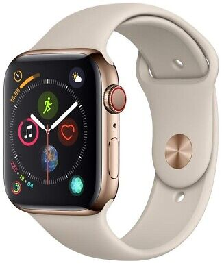 $ CDN413.91 • Buy Apple Watch Series 4 40 Mm Gold Stainless Steel /Stone Sport Band GPS + Cellular