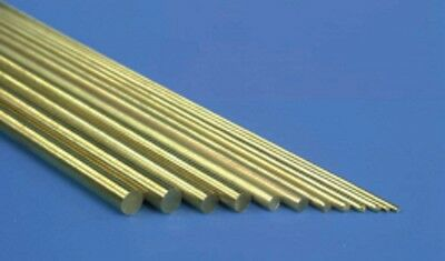 ALBION ALLOYS BW08 (BR3M) PACK OF 9 PIECES BRASS ROD / WIRE 0.8mm X 305mm • 5.25£