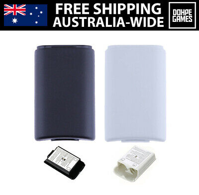 AU9.95 • Buy 2 X Xbox 360 Battery Covers Cases For Controllers Black White Gaming Parts