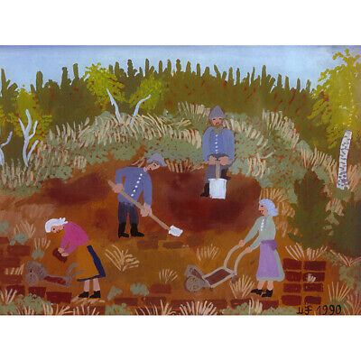 £12.50 • Buy Maria Felder Working In Moss Farm Painting Canvas Wall Art Print Poster