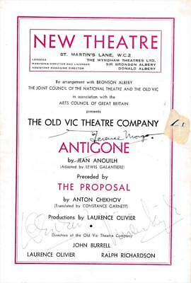 Vivien Leigh & Laurence Olivier- Signed Theatre Pogram • 252.74£