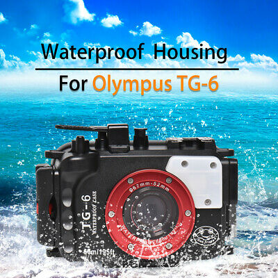 Seafrogs 60m/195ft Underwater Camera Housing Diving Case For Olympus TG-6 • 159£