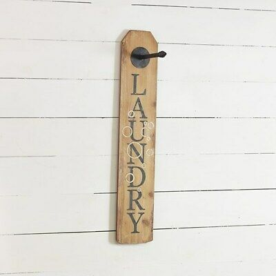 Laundry Panel Sign With Hook • 23.04£