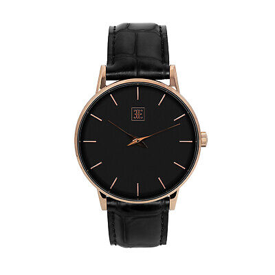 $ CDN60.89 • Buy Ethan Eliot Classic Men's Watch Winchester 40mm Rose Gold Black Stainless Steel