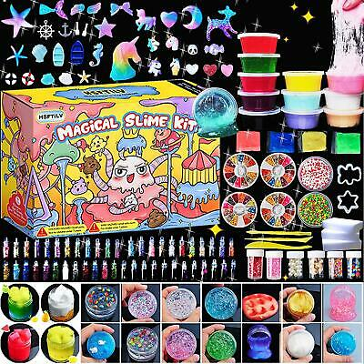 AU67.35 • Buy KIDS Gifts DIY Slime Unicorn Craft Art Kit Cube Glitter Magic Clay Christmas Toy