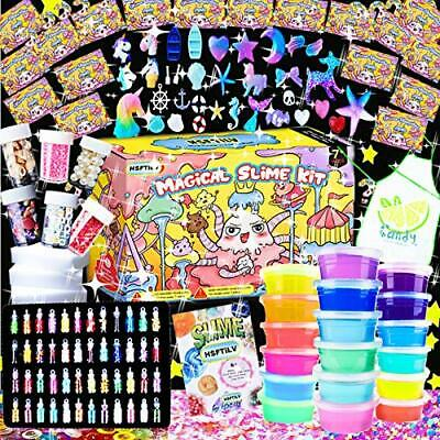 AU78.94 • Buy KIDS Gifts DIY Slime Craft Art Kit Cube Glitter Magic Clay Butter Christmas Toys