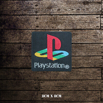 PlayStation Logo Embroidered Patch Iron On Sew On Badge • 1.99£