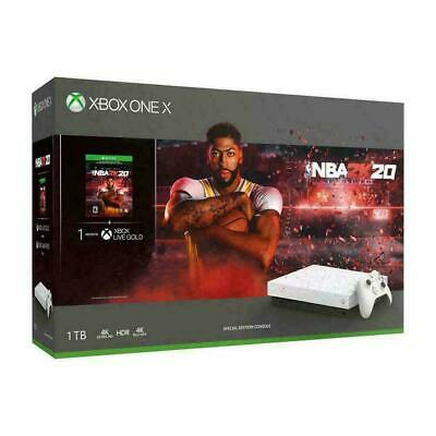 Brand New Xbox One X 1TB NBA 2K20 Special Edition White Console Game Bundle NEW • 449.95$