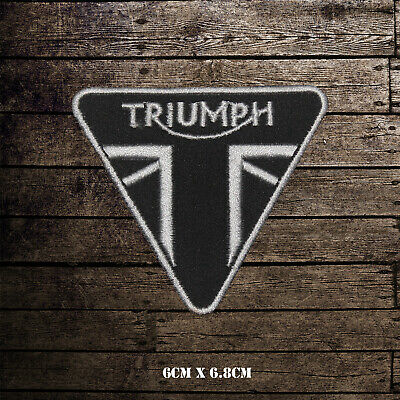 Triumph Motorcycle Logo Bikers Embroidered Iron On Sew On Patch Badge • 2.09£