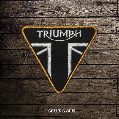 Triumph Motorcycle Logo Bikers Embroidered Iron On Sew On Patch Badge • 1.99£