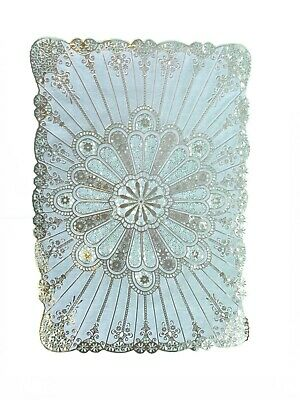Gold Rectangle Lace Effect Table Place Mats Home Christmas Weddings Table Decor • 2.79£