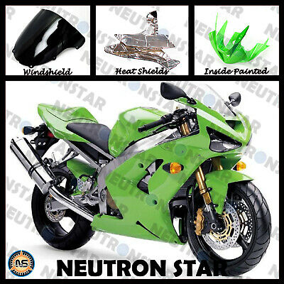 $339 • Buy For 2003-04 ZX-6R ZX636 ABS Plastic Injection Mold Full Fairing Set Bodywork GR