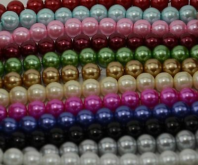 £2.31 • Buy Jewellery Making 130 Pieces 6mm Glass Pearl Beads Crafting Fishing Wedding Beads