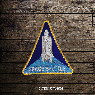 NASA Space Shuttle USA Badge Embroidered Iron On Sew On Patch Badge • 2.09£