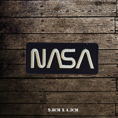 NASA USA Logo Embroidered Iron On Sew On Patch Badge For Clothes Etc • 1.99£