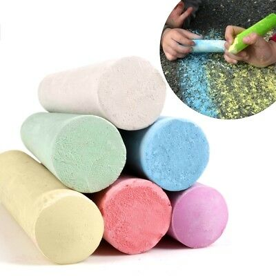 £4.67 • Buy 12Pc JUMBO COLOURED CHALK Pavement Outdoor Floor Game Art Drawing Chunky Large