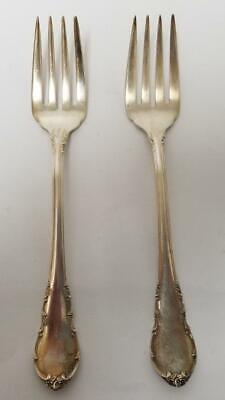 $ CDN169.22 • Buy Lunt Modern Victorian Sterling Silver Lot Of 2 6-3/8  Salad Forks No Mono 75.4g