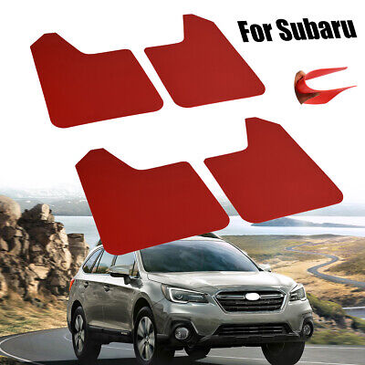 $35.99 • Buy Mud Flaps Splash Guards Mudguards Mudflap For Subaru Forester BRZ SF 4X Red