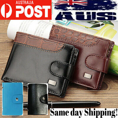 AU12.65 • Buy Men's Women Nurse Leather Wallet RFID Safe Contactless Card Holder ID Protection