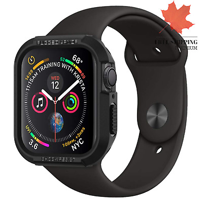 $ CDN16.79 • Buy Rugged Armor Designed For Apple Watch Case For 44mm Series 5 Series 4 - Black