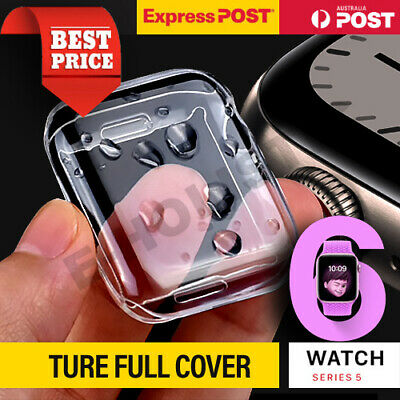 AU6.95 • Buy For Apple Watch Series 4 5 6 SE 40 44 Mm IWatch Clear TPU Screen Protector Case