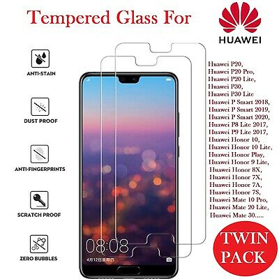 Genuine Tempered Glass New Screen Protector For Huawei P20 P30 Pro Lite Y6 Y7 19 • 2.29£