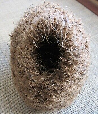 £7 • Buy 2  X  Finch  Nests  In  Natural Wicker & Coco Fibre ,  Large
